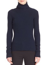 3.1 Phillip Lim Ribbed Turtleneck Sweater Sapphire