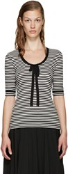 Marc Jacobs Black And White Striped Sweater