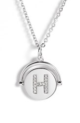 Lulu Dk Women's Love Letters Initial Spinning Pendant Necklace Silver H