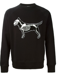 Sibling Dog Skeleton Sweatshirt Black