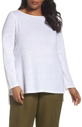 Eileen Fisher Plus Size Women's Organic Cotton Sweater White