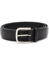 Orciani Square Buckle Belt Black