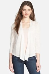 Nic Zoe Four Way 3 4 Sleeve Convertible Cardigan Petite White