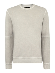 Label Lab Water Crew Neck Oil Wash Sweat Grey