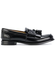 Church's Omega Bicoloured Loafers Leather Patent Leather Rubber Black