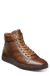 Florsheim Men's Forward Hi Sneaker Cognac Leather