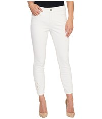 Nydj Alina Ankle W Eyelet Embroidery In Optic White Optic White Women's Jeans