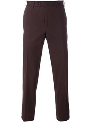 Canali Regular Trousers Red