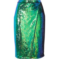 River Island Womens Bright Blue Sequin Wrap Midi Skirt Turquoise