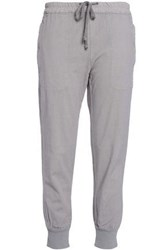 James Perse Cotton Blend Track Pants Gray