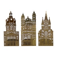 Pols Potten Waxinelight Tealight Holder Set Of 3 Churches