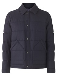 Jigsaw Waxed Wool Quilted Jacket Navy