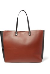 Sandro Adela Paneled Leather Tote Tan