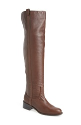 Delman 'Sofie' Over The Knee Boot Women Brown Tumbled Lambskin