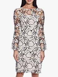 Adrianna Papell Floral Embroidered Sheath Dress Blush Multi