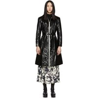 Alexachung Black Trinity Panelled Trench Coat