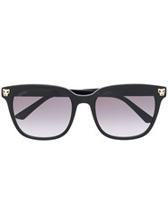 Cartier Square Frame Sunglasses Black