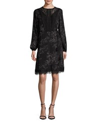 T Tahari Long Sleeve Alexa Floral A Line Dress