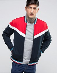 Original Penguin Track Jacket Contrast Piping In Navy Dark Sapphire