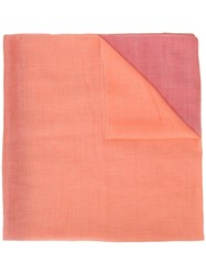 Emporio Armani Colour Block Scarf Orange
