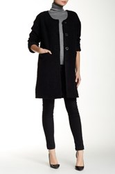 Luma Long Wool Blend Coat Black
