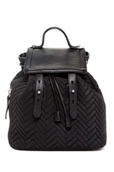 Mackage Tanner Nylon And Leather Backpack Black