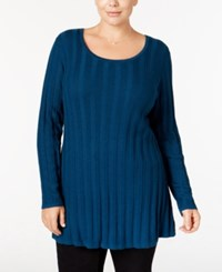 Styleandco. Style Co. Plus Size Rib Knit Tunic Sweater Only At Macy's New Rustic Teal