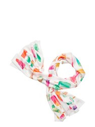Kate Spade Flavor Of The Month Oblong Scarf Cream