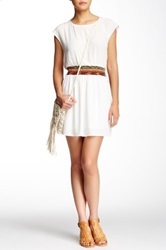 Collective Concepts Tribal Waist Dress White