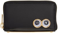 Sophie Hulme Black Mini Rosebery Coin Pouch