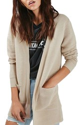 Topshop Women's Ottoman Ribbed Open Cardigan