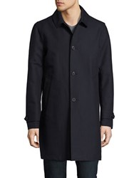 Hardy Amies Button Down Raincoat Navy