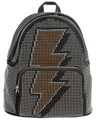 Les Petits Joueurs Studded Bolt Suede And Leather Backpack