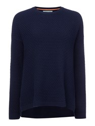 Dickins And Jones Carrie Texured Knit Jumper Navy