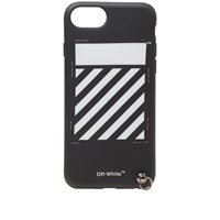 Off White Diagionals Iphone 8 Cover With Strap Black