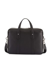 Dunhill Hampstead Leather Document Briefcase Black
