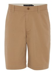 Howick Men's Marlow Lightweight Chino Flat Front Shorts Latte