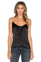 Frame Denim Le Sheer Cami Black