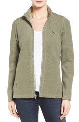 Tommy Bahama Women's 'Aruba' Full Zip Sweatshirt Tea Leaf