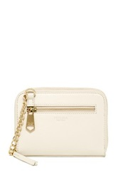 Perlina Amber Double Zip Leather Crossbody White