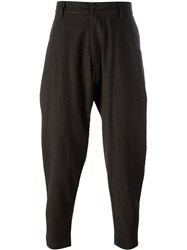 Ziggy Chen Drop Crotch Tapered Trousers Brown