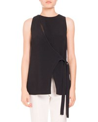 Proenza Schouler Sleeveless Crepe Wrap Top Off White