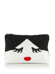 Alice Olivia Winking Stace Face Large Cotton Canvas Pouch Multi