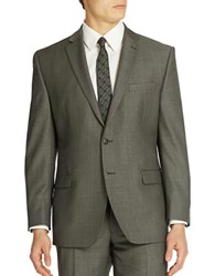 Calvin Klein Slim Fit Wool Suit Jacket Charcoal