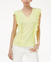 Thalia Sodi Ruffled Top Only At Macy's Pear Passion