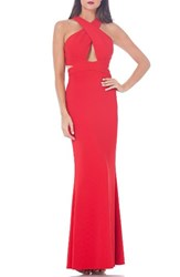 Js Collections Women's Cutout Ottoman Mermaid Gown