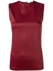 Givenchy Faux Leather Top Red