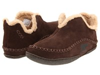 Sorel Manawantm Bark Slippers Brown
