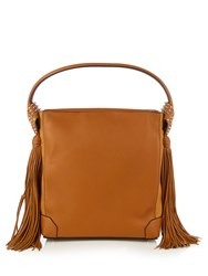 Christian Louboutin Eloise Hobo Leather Shoulder Bag Tan
