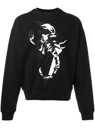 Diesel Black Gold Lobster Print Sweatshirt Black